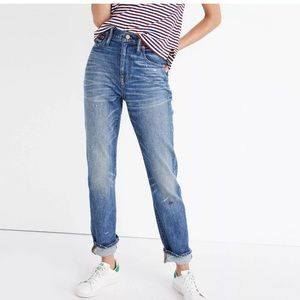 Madewell High Rise Slim boy boyfriend jeans